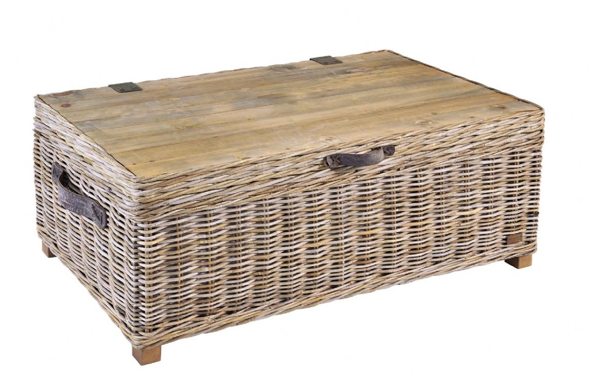 Casares Rattan Storage Coffee Table - Special Order